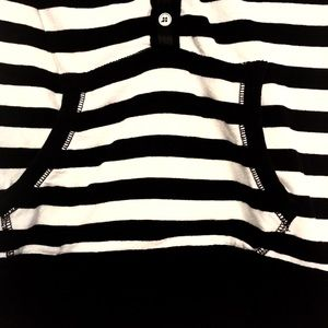 Poof! Shirts & Tops - Poof! Short Sleeve Top Black/White Stripe Girls M